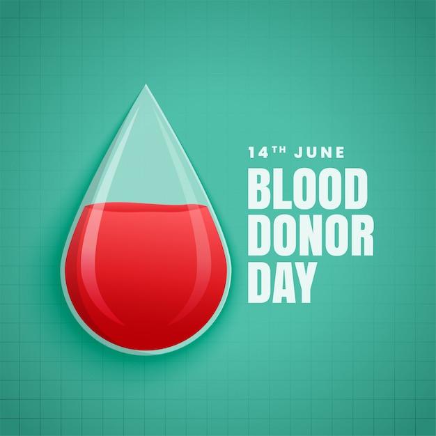Giugno giornata mondiale del donatore di sangue Vettore gratuito