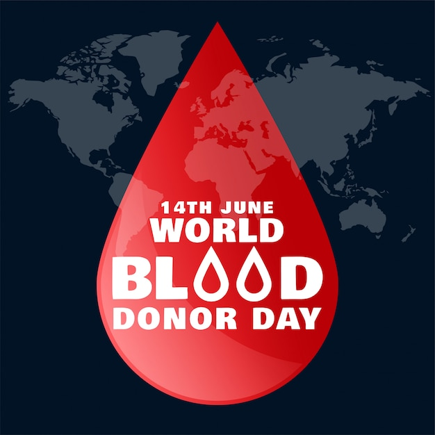 June world blood donor day Free Vector