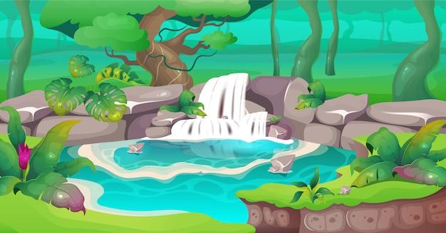 Иллюстрация джунглей Premium векторы