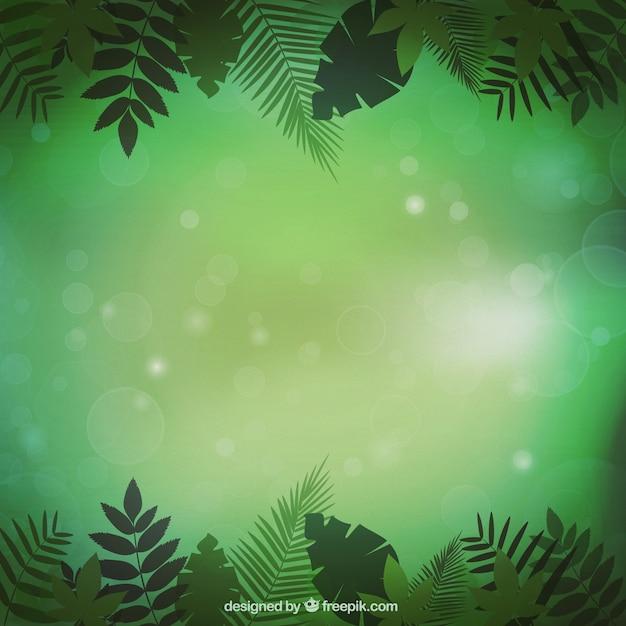 Jungle vegetation background Free Vector