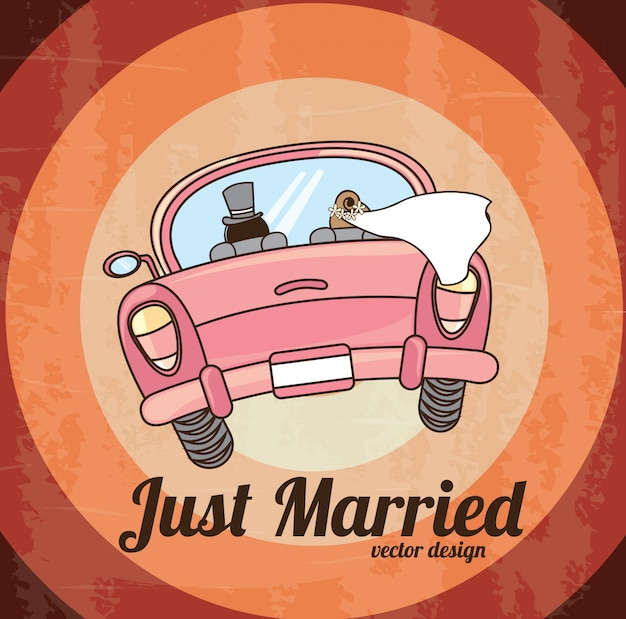 Just married Premium Vector