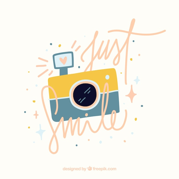 Just smile background Free Vector
