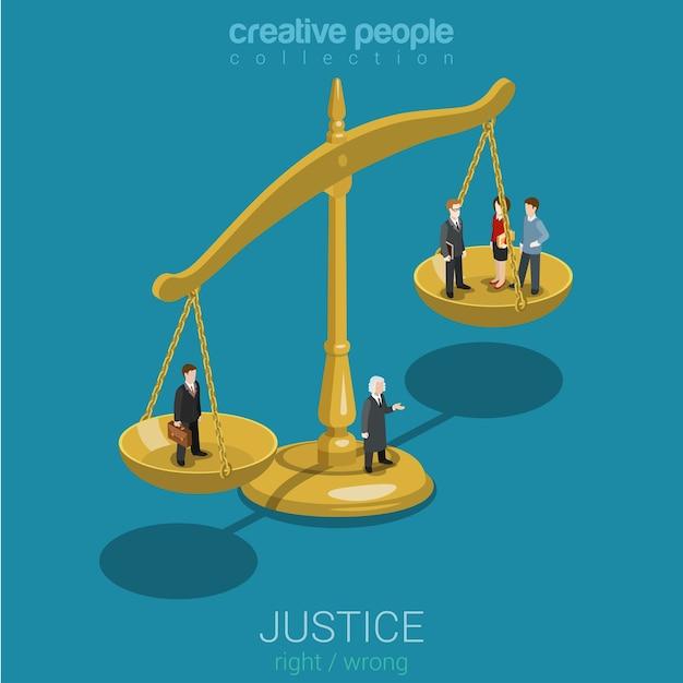 正義と法、判決と決定、法廷 Premiumベクター
