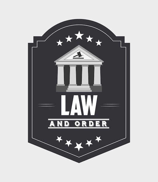 Justice and law design Free Vector
