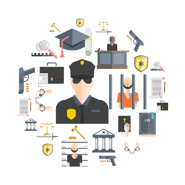 Justice and punishment concept Free Vector