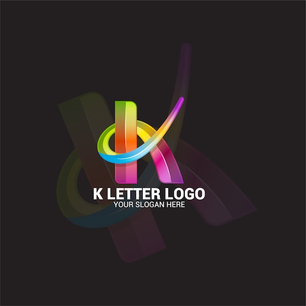 K letter logo Premium векторы