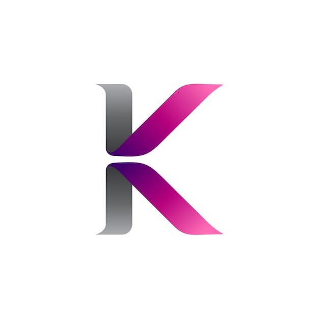 Буквенное письмо k и letter v Premium векторы