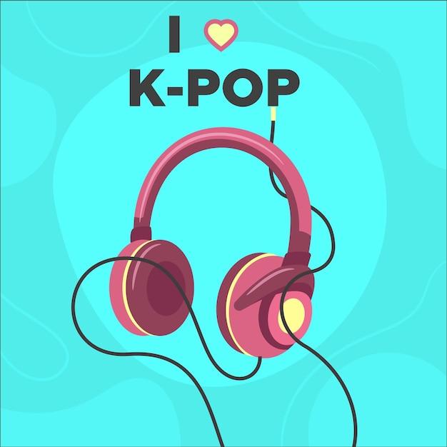 K-popミュージックコンセプトの図解 無料ベクター