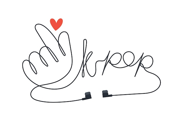 K-popミュージックコンセプト 無料ベクター