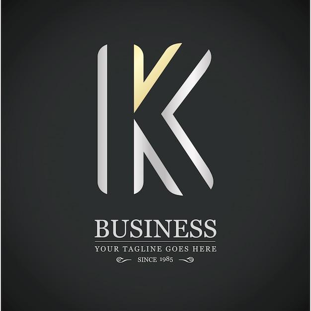 Разноцветный k письмо логотип алфавит дизайн логотипа Бесплатные векторы