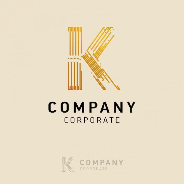訪問カードベクトルとkの会社のロゴデザイン Premiumベクター