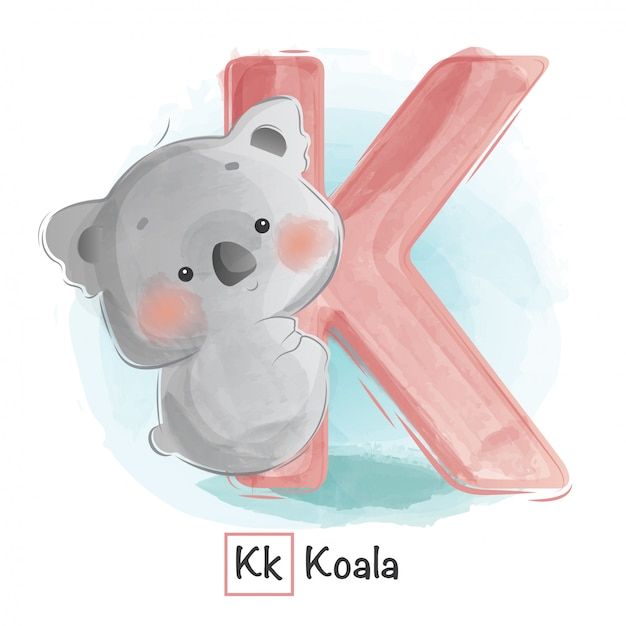 動物のアルファベット -  k Premiumベクター