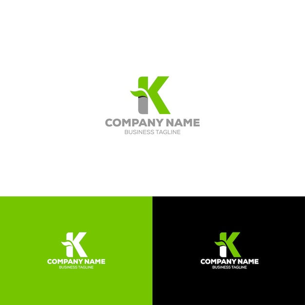 Шаблон логотипа с буквой k Premium векторы