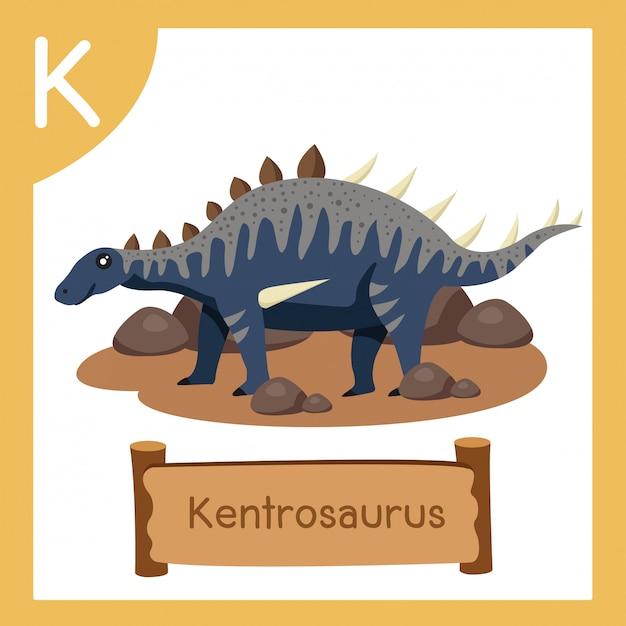 恐竜ケントロサウルスのkのイラストレーター Premiumベクター