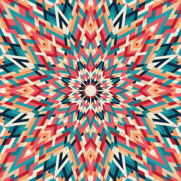 Калейдоскоп геометрический красочный рисунок. абстрактный фон Premium векторы