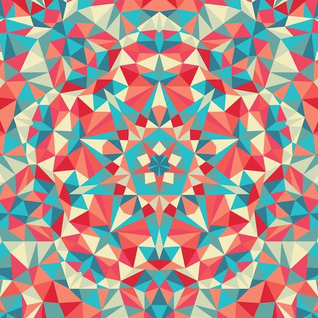 万華鏡の幾何学的なカラフルなパターン。抽象的な背景 Premiumベクター