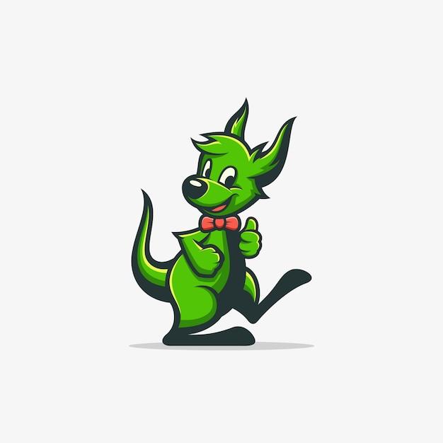 Kangaroo illustration vector template Premium Vector
