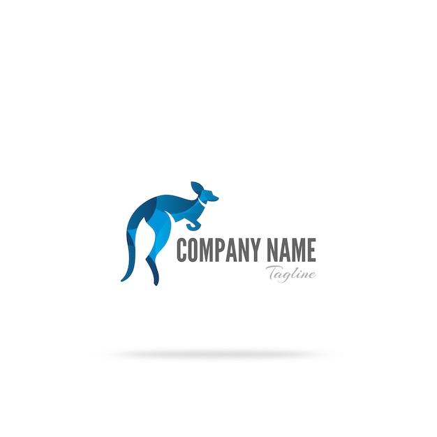 Дизайн логотипа kangaroo Бесплатные векторы