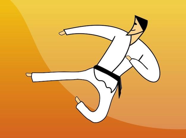 Karate fighting man martial arts icon