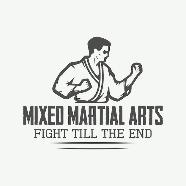 Karate  logo, emblem Premium Vector
