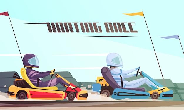 Kart racing Free Vector