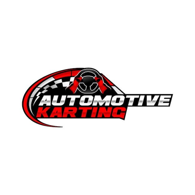 Karting logo Premium Vector