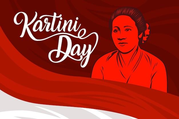 Празднование дня kartini Бесплатные векторы