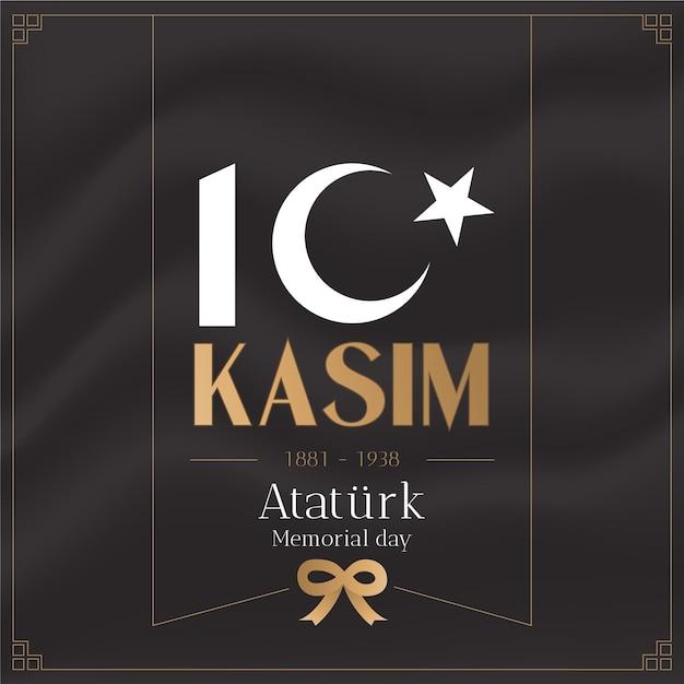 Giorno della memoria di kasim ataturk Vettore gratuito