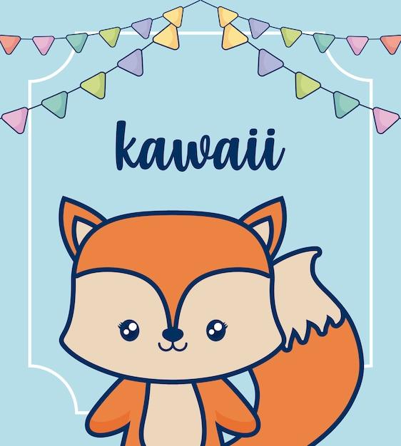 Kawaii animals Free Vector
