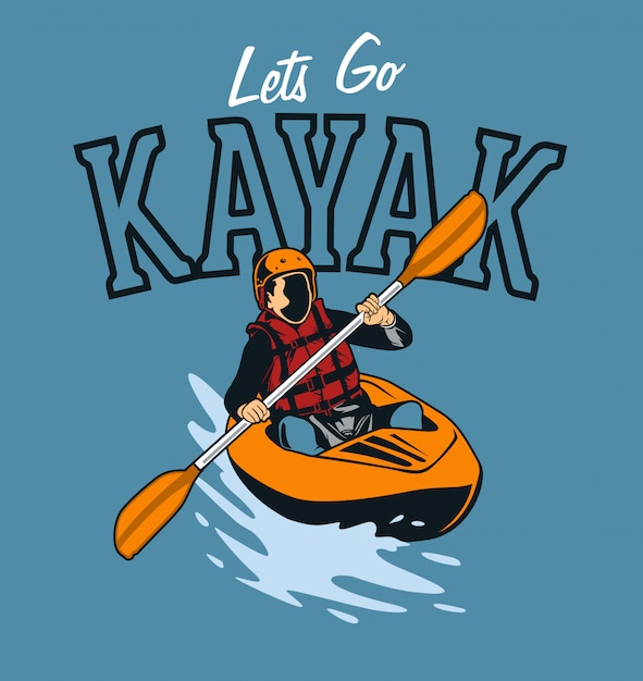 Download Kayak Vector   Premium Download