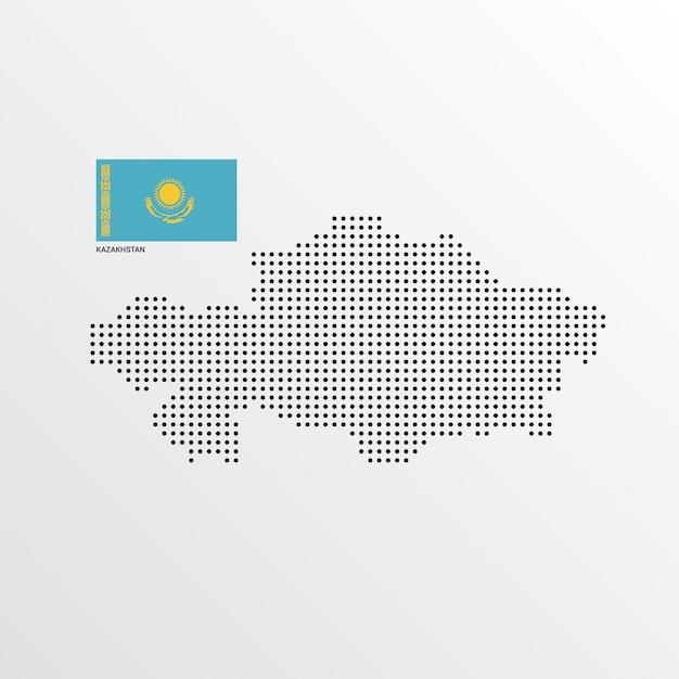 Kazakhastan map design Free Vector