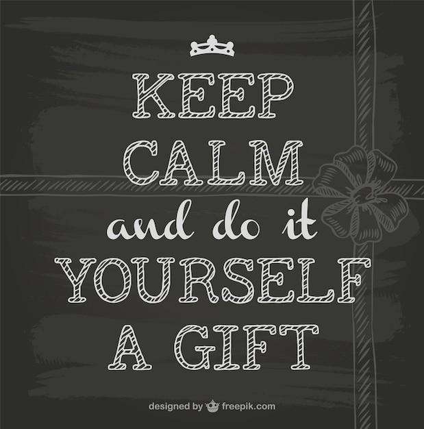 Keep Calm Blackboard Design