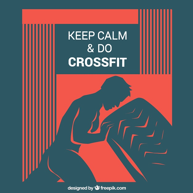 Keep calm crossfit background Free Vector