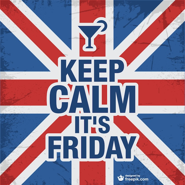 Keep calm friday design  Free Vector
