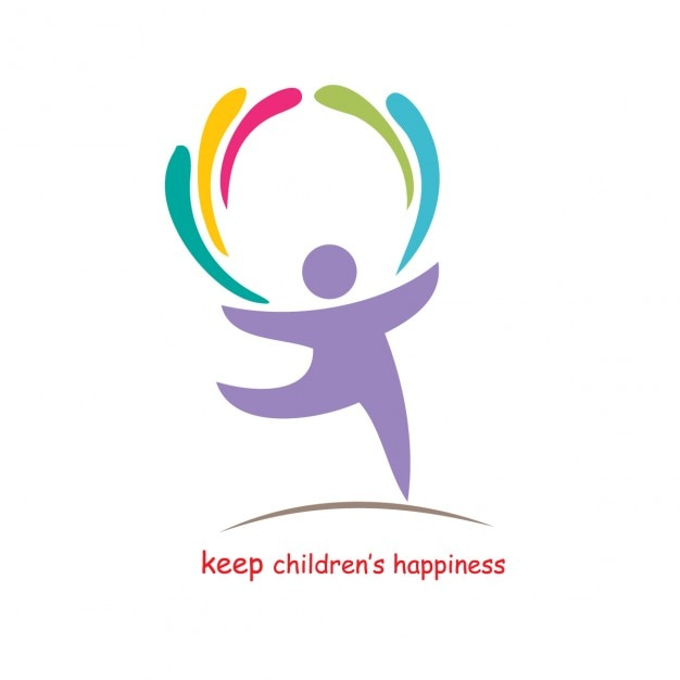 Keep childrens happiness Free Vector