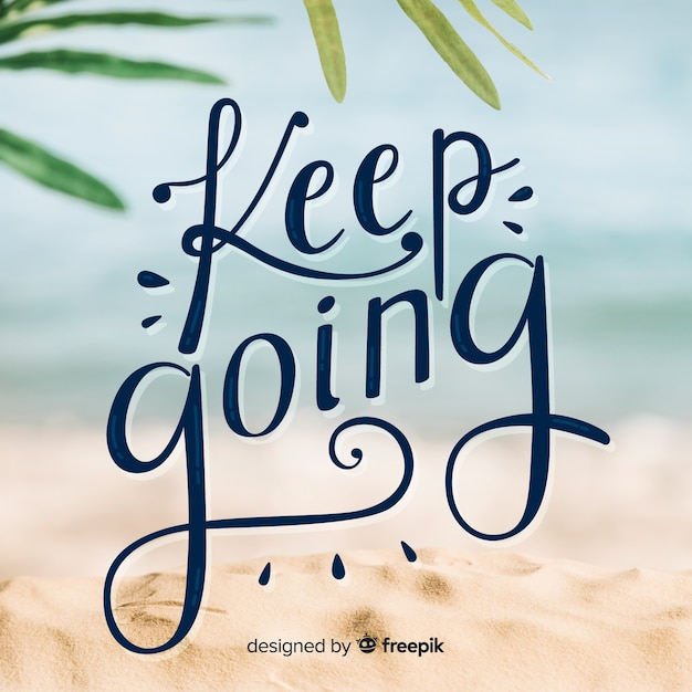 Keep going Free Vector