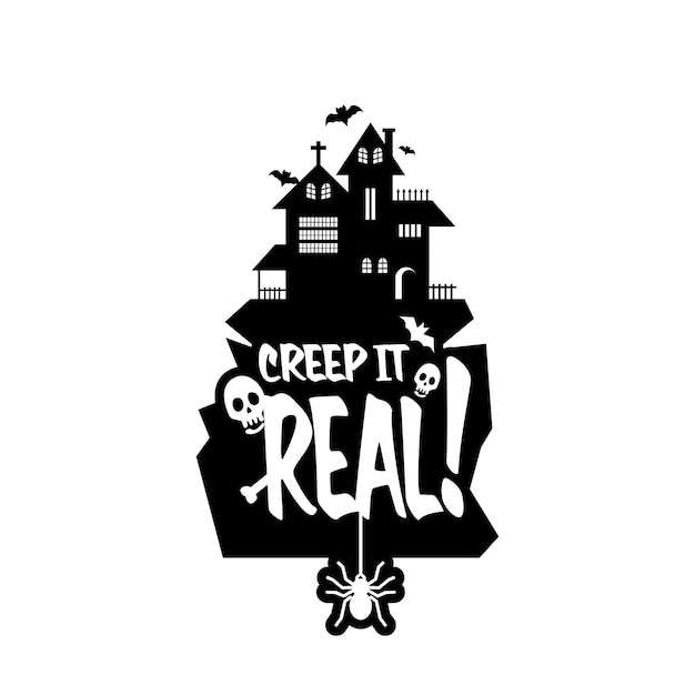 Keep it real typography design vector Free Vector
