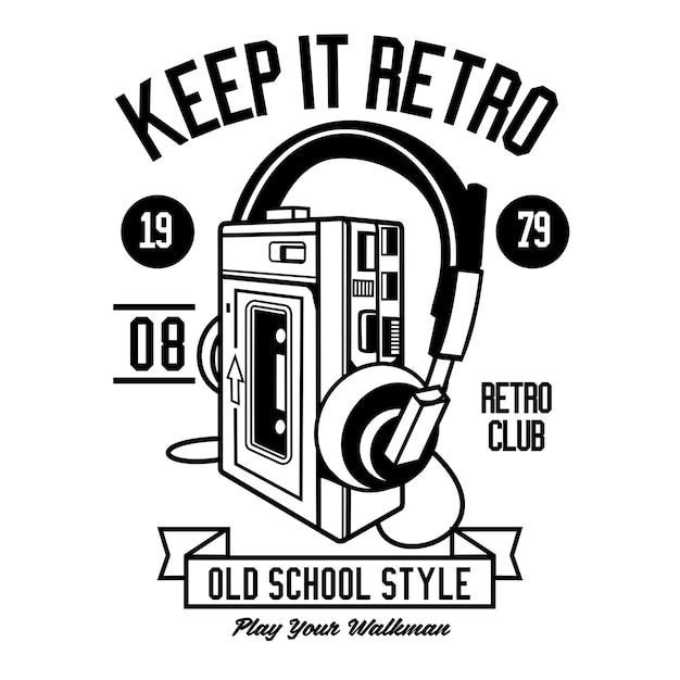 Keep it retro Premium векторы