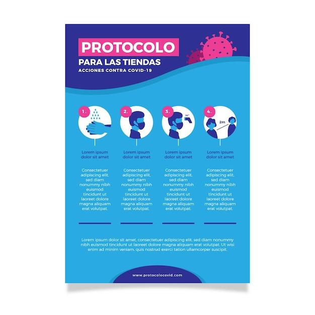 Держите свой разум и тело здоровыми во время плаката пандемии ncov Бесплатные векторы
