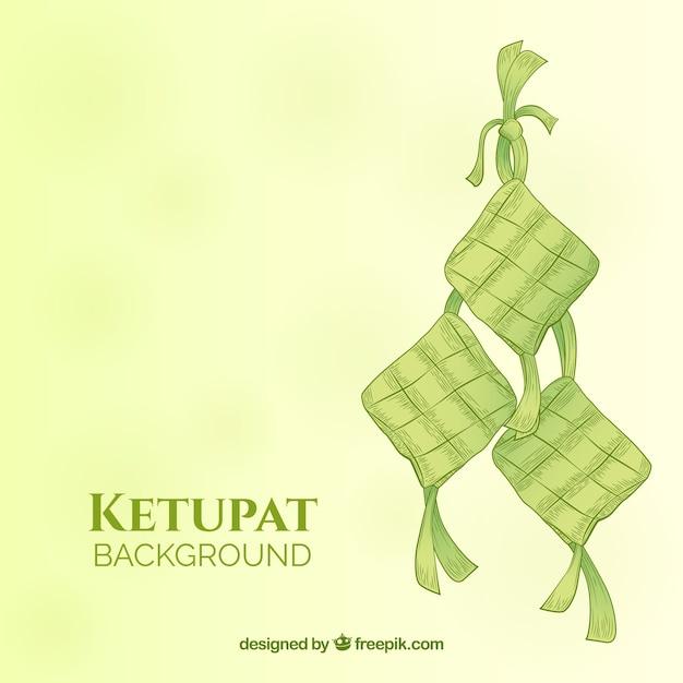 Ketupat background Free Vector