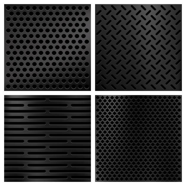 Набор текстур из углеродного волокна из кевлара Premium векторы