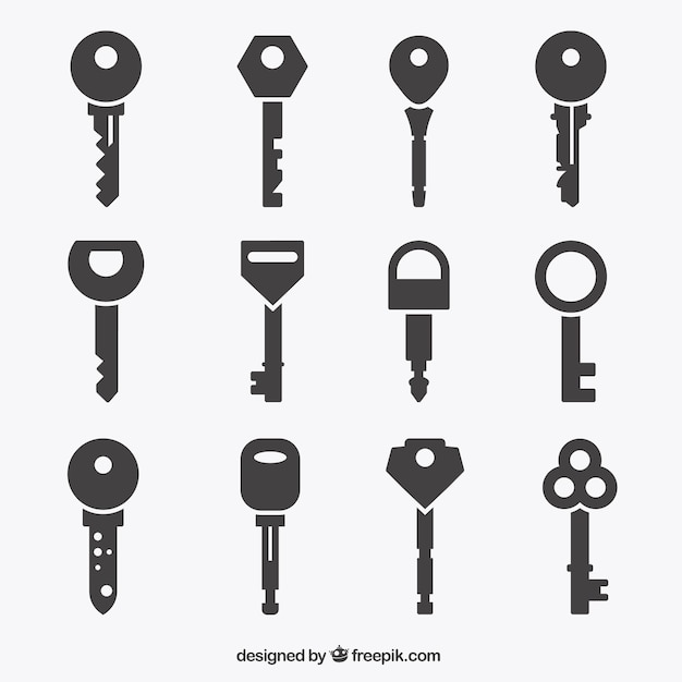 Key icons collection Vector | Free Download