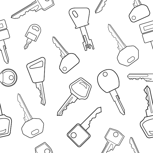 Key pattern Premium Vector