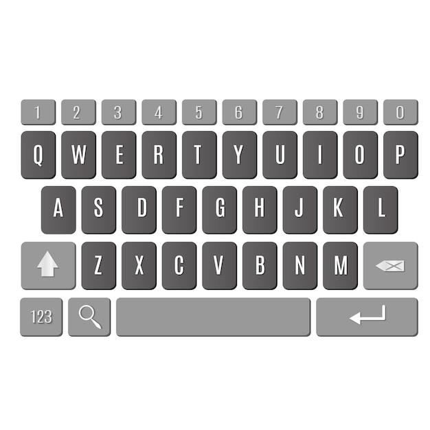 Keyboard of smartphone Premium Vector