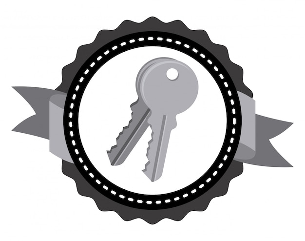 Keys icon design Premium Vector