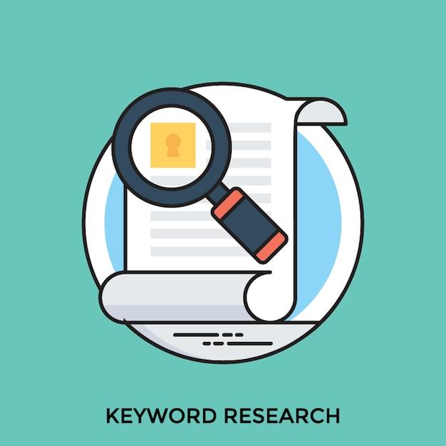 Keyword research Premium Vector