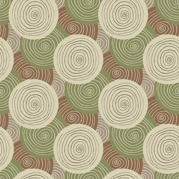 Khaki Fabric Texture Fashion Military Seamless Pattern Textile Design Ethnic Background With Circles
