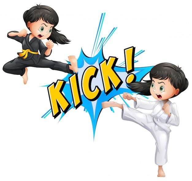 Kick flash Premium Vector