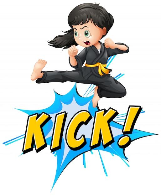 Kick logo Free Vector