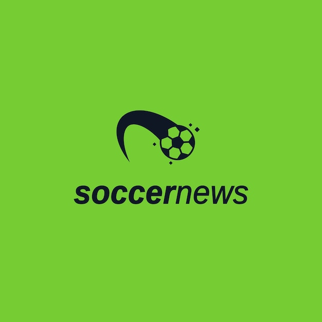 Kicked Ball logo icon. Soccer news website logo template Vector ...
